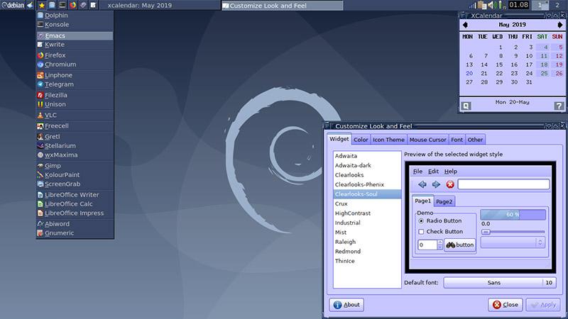 bureau de Debian 10