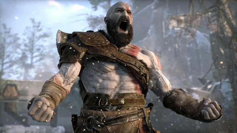kratos de god of war sur ps4