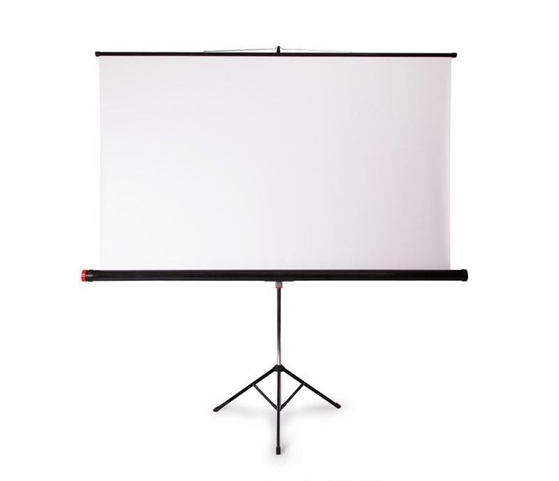 écran de projection sur pied