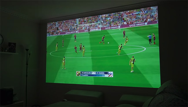 videoprojection foot 4k