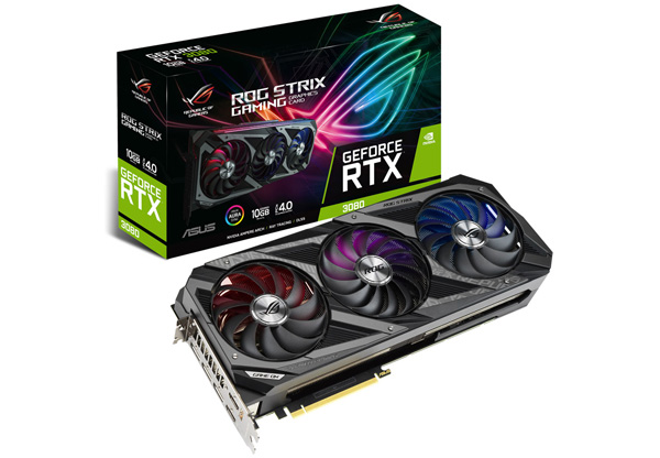 Asus Rog Strix RTX 3080 10G Gaming box