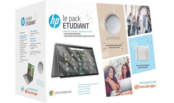 Chromebook HP Pack X360 14-ca0004nf+ Etui+ Nest Mini avis