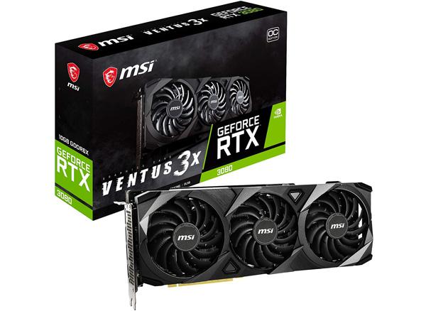 MSI RTX 3080 Ventus 3X 10G OC box