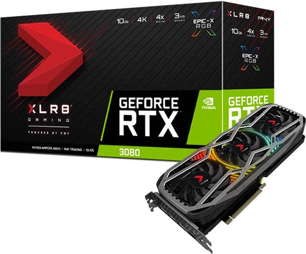 PNY RTX 3080 10GB XLR8 box